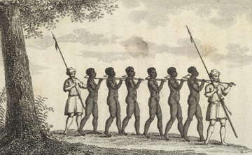 <i>Chaine d'esclaves venant de l'intérieure</i>
