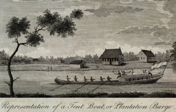 """Representation of a Tent Boat, or Plantation Barge"""