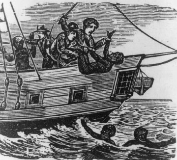 Africans thrown overboard from a slave ship, Brazil