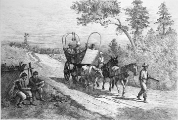 Fugitive slaves escaping to Union lines, 1864