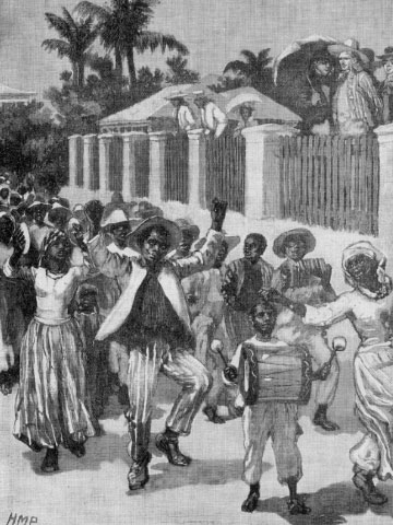 Emancipation festival, Barbados, 19th c.