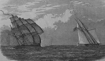 """Capture of a Brazilian Slaver by H.M.S. 'Rattler,' off Lagos"""
