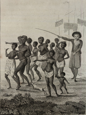 """Group of Negroes as imported to be sold for Slaves"""