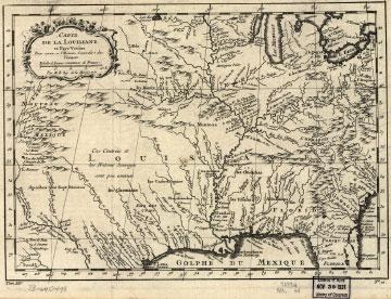 <i>Carte de la Louisiane et pays voisins, pour servir a l'Histoire générale des voyages</i>