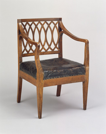 Armchair attributed to Monticello joinery