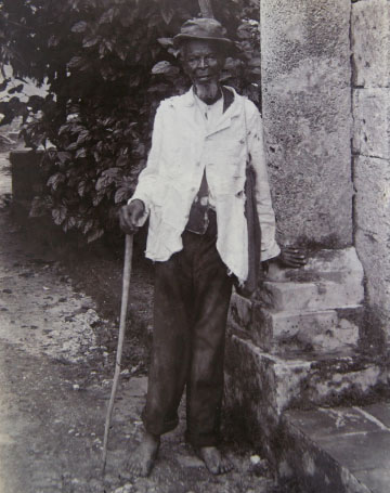 Photo of Boxhill, an ex-slave in Barbados