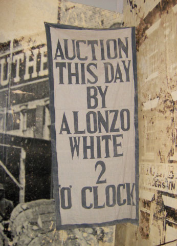 Advertisement of a slave auction