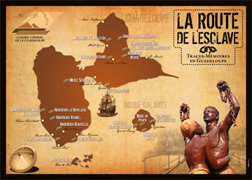 Map of The Slave Route—Traces of Memory in Guadeloupe