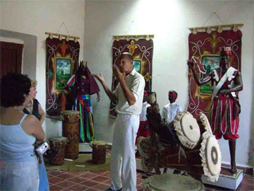 Room dedicated to Cuban religiosity of African origin, San Severino Castle