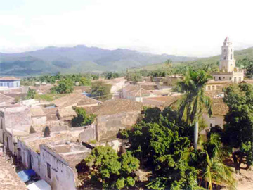 Panorama of the historical center of the colonial city of Trinidad
