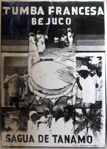 Poster announcing Tumba Francesa de Bejuco