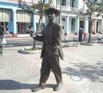 Environmental sculpture in the main avenue of Cienfuegos, Cuba