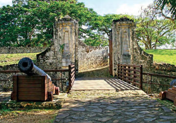 Entrance of Fort Fleur-d'Épée, Guadeloupe