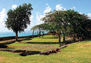 Interior of Fort Fleur-d'Épée, Guadeloupe