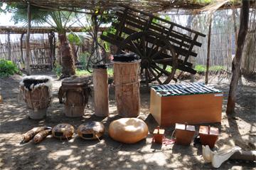 Musical instrument collection, Afro-Peruvian Museum, Zaña, Peru