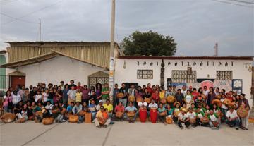 Percussion workshop in Zaña, Peru