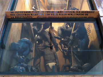 Model representing the hold of a slave ship