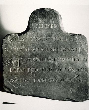 Priscilla Hemmings gravestone