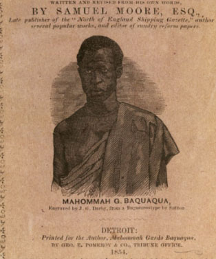 Title page of <i>The Biography of Mahommah Gardo Baquaqua</i>