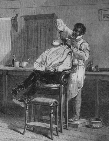 """A Barber's Shop at Richmond, Virginia"""