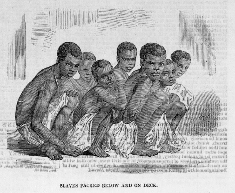"slaves of the middle passage Deaths during the middle passage, caused by epidemics, suicide, ""fixed melancholy,"" or mutiny, have been estimated at 13 percent so many bodies of dead or dying africans were jettisoned into the ocean that sharks regularly followed the slave ships on their westward journey."